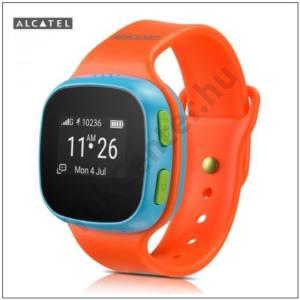 ALCATEL MOVE TIME okosóra (SIM kártya, gyermekfelügyelet, gyermekméret, lépésszámláló, vészhívó gomb) KÉK/NARANCS