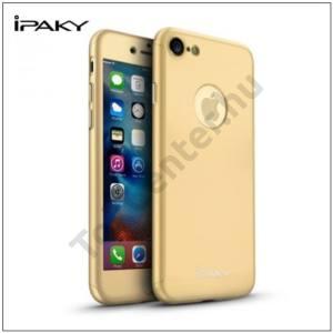 APPLE IPhone 7 IPAKY műanyag telefonvédő (előlap védelem, képernyővédő fólia, tisztítókendő, logo kivágás) ARANY
