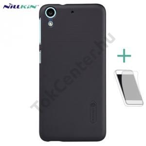 HTC U Play NILLKIN SUPER FROSTED műanyag telefonvédő (érdes felület, képernyővédő fólia, tisztítókendő) FEKETE