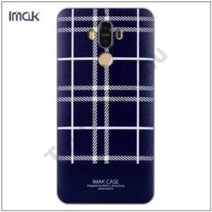 HUAWEI Mate 9 IMAK műanyag telefonvédő (képernyővédő fólia, skót kocka minta) FEKETE/FEHÉR