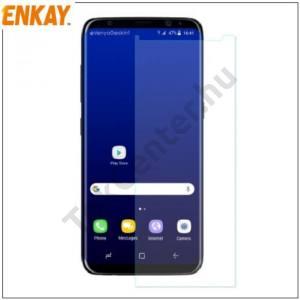 SAMSUNG Galaxy S8 (SM-G950) ENKAY képernyővédő fólia törlőkendővel (1 db-os, full screen, íves részre, öntapadós, 0.1mm vékony, PET) CLEAR