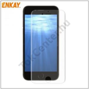 APPLE IPhone 7 /APPLE IPhone 8 4,7`` ENKAY képernyővédő fólia törlőkendővel (1 db-os, full screen, íves részre, öntapadós, 0.1mm vékony, PET) CLEAR