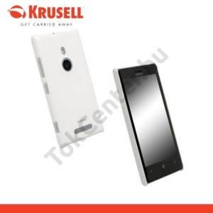 Nokia Lumia 925 KRUSELL ColorCover műanyag telefonvédő METÁLFEHÉR