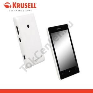 Nokia Lumia 520 KRUSELL ColorCover műanyag telefonvédő METÁLFEHÉR