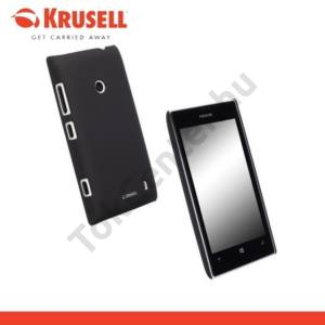 Nokia Lumia 520 KRUSELL ColorCover műanyag telefonvédő METÁLFEKETE