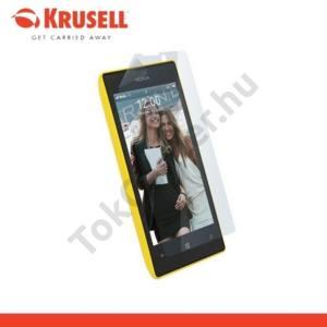 Nokia Lumia 520 KRUSELL képernyővédő fólia, törlőkendővel  (1 db-os) ultravékony, környezetbarát anyagból