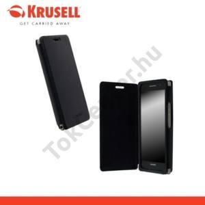 Huawei Ascend P6 (P6-U06) KRUSELL FlipCover DONSÖ, műanyag telefonvédő (oldalra nyíló bőr flip) FEKETE