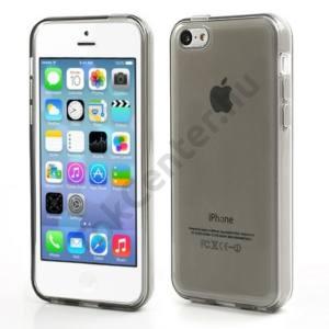 Apple iPhone 5C Telefonvédő gumi / szilikon FÉNYES SZÜRKE