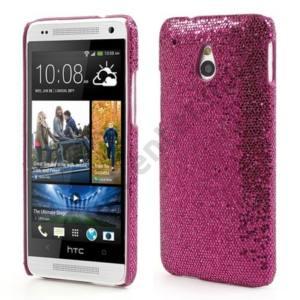HTC One Mini (M4) Műanyag telefonvédő (csillogó, flitteres) RÓZSASZÍN