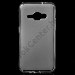 Samsung Galaxy J1 (2016) (SM-J120) Telefonvédő gumi / szilikon (fényes keret) ÁTLÁTSZÓ