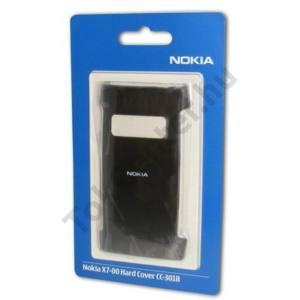 Nokia X7-00 Műanyag telefonvédő ÁTLÁTSZÓ FEKETE