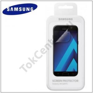 SAMSUNG Galaxy A5 (2017) (SM-A520F) GYÁRI Képernyővédő fólia törlőkendővel (2 db-os, full screen, íves) TRANSPARENT