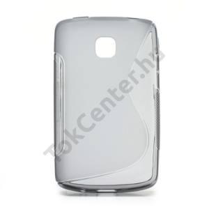 LG Optimus L1 II. (E410) Telefonvédő gumi / szilikon (S-line) FÜSTSZÍNŰ