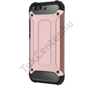 SAMSUNG Galaxy J5 (2016) (SM-J510) Defender műanyag telefonvédő (közepesen ütésálló, gumi / szilikon belső, fémhatás) ROZÉARANY