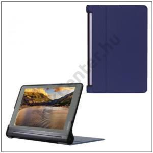 LENOVO Yoga Tab 3 Pro 10.1 Műanyag telefonvédő (bőr flip, asztali tartó funkció) SÖTÉTKÉK
