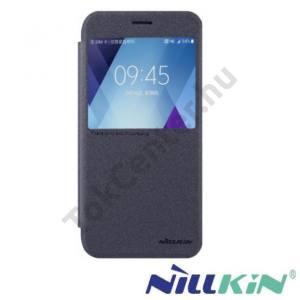 HUAWEI Honor 6X (2016) NILLKIN SPARKLE műanyag telefonvédő (mikroszálas bőr aktív flip, oldalra nyíló, View Window) FEKETE