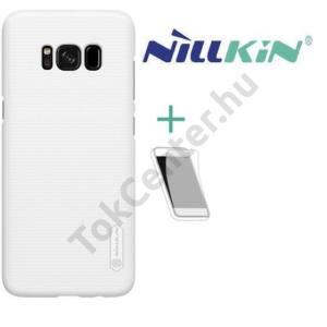 HUAWEI Honor 6X (2016) NILLKIN SUPER FROSTED műanyag telefonvédő (gumírozott, érdes felület, képernyővédő fólia, tisztítókendő) FEHÉR