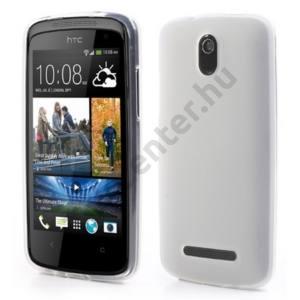 HTC Desire 500 Telefonvédő gumi / szilikon FEHÉR