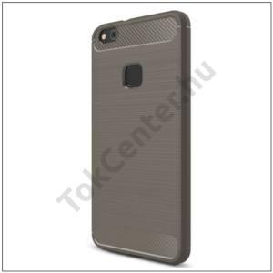SAMSUNG Galaxy J3 (2017) (SM-J330) EU Telefonvédő gumi / szilikon (közepesen ütésálló, szálcsiszolt, karbonminta) SZÜRKE