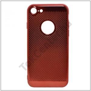 SAMSUNG Galaxy A3 (2017) (SM-A320F) Telefonvédő gumi / szilikon (lyukacsos) PIROS