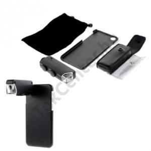Apple iPhone 6 4.7`` Objektív (külső kameralencse, 60-100x  nagyítás, műanyag telefonvédő) FEKETE