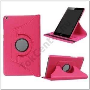 HUAWEI MediaPad T3 10 LTE /HUAWEI MediaPad T3 10 WIFI Tok álló, bőr (FLIP, asztali tartó funkció, 360°-ban forgatható) RÓZSASZÍN