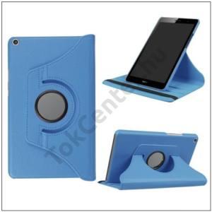 HUAWEI MediaPad T3 10 LTE /HUAWEI MediaPad T3 10 WIFI Tok álló, bőr (FLIP, asztali tartó funkció, 360°-ban forgatható) VILÁGOSKÉK