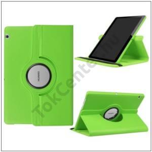 HUAWEI MediaPad T3 10 LTE /HUAWEI MediaPad T3 10 WIFI Tok álló, bőr (FLIP, asztali tartó funkció, 360°-ban forgatható) VILÁGOSZÖLD