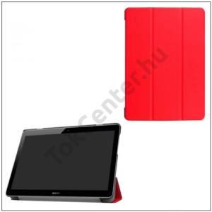 HUAWEI MediaPad T3 10 LTE /HUAWEI MediaPad T3 10 WIFI Tok álló, bőr (FLIP, oldalra nyíló, TRIFOLD asztali tartó funkció) PIROS (készleten!)