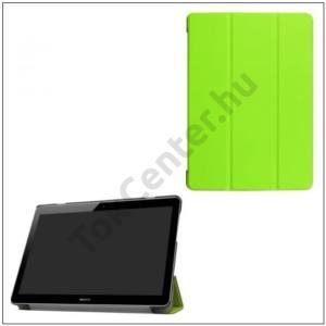 HUAWEI MediaPad T3 10 LTE /HUAWEI MediaPad T3 10 WIFI Tok álló, bőr (FLIP, oldalra nyíló, TRIFOLD asztali tartó funkció) VILÁGOSZÖLD