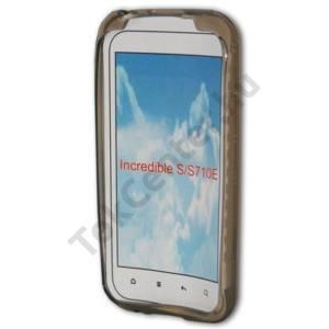 HTC Incredible S (S710e) Telefonvédő gumi / szilikon (körmintás) SZÜRKE