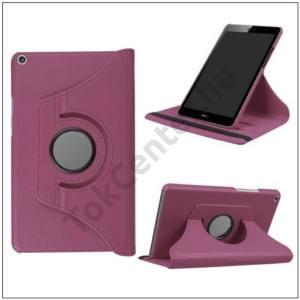 HUAWEI MediaPad T3 10 Tok álló, bőr (FLIP, asztali tartó funkció, 360°-ban forgatható) LILA