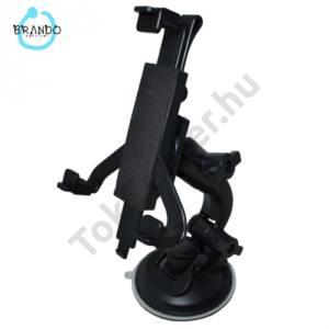 Gépkocsi / autó tartó (forgatható tapadókorongos szélvédőtartóval, 7'' -os készülékekhez) FEKETE