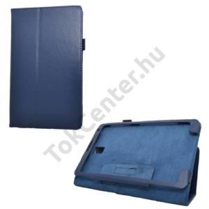 Samsung Galaxy Tab S 8.4 LTE (SM-T705) Tok álló, bőr (FLIP, mágneses, asztali tartó funkció) SÖTÉTKÉK
