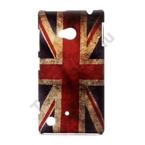 Nokia Lumia 720 Műanyag telefonvédő (zászlóminta) BRIT / ANGOL