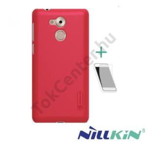 NOKIA 3 NILLKIN SUPER FROSTED műanyag telefonvédő (gumírozott, érdes felület, képernyővédő fólia, tisztítókendő) PIROS