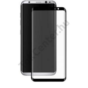 LG K10 (2017) Képernyővédő fólia (1 db-os, 2.5D full cover, íves, ultravékony előlap, edzett üveg, karcálló, 0.33 mm, 9H) FEKETE