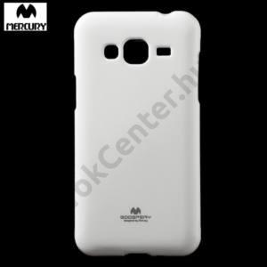 Samsung Galaxy J3 (2016) (SM-J320) MERCURY Goospery telefonvédő gumi / szilikon (csillámporos) FEHÉR