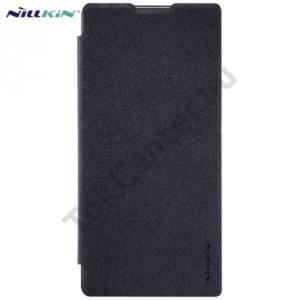 Sony Xperia XA Ultra (F3211) NILLKIN SPARKLE műanyag telefonvédő (mikroszálas bőr flip, oldalra nyíló) FEKETE