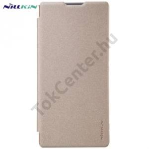 Sony Xperia XA Ultra (F3211) NILLKIN SPARKLE műanyag telefonvédő (mikroszálas bőr flip, oldalra nyíló) ARANY