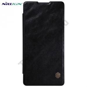 Sony Xperia XA Ultra (F3211) NILLKIN QIN tok álló, bőr (FLIP, oldalra nyíló, bankkárty tartó) FEKETE
