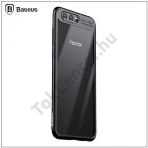 HUAWEI Honor 9 BASEUS műanyag telefonvédő (szilikon keret, ultravékony) ÁTLÁTSZÓ/FEKETE