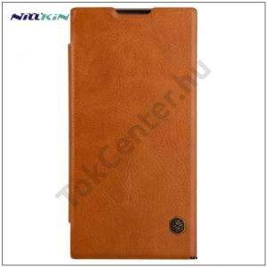 SAMSUNG Galaxy Note 8 NILLKIN QIN tok álló, bőr (FLIP, oldalra nyíló, bankkártya tartó) SÖTÉTBARNA
