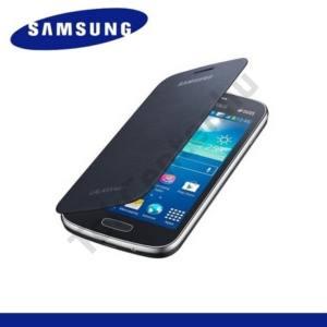 Samsung Galaxy Ace 3 LTE (GT-S7275) Műanyag telefonvédő (FLIP, oldalra nyíló) FEKETE