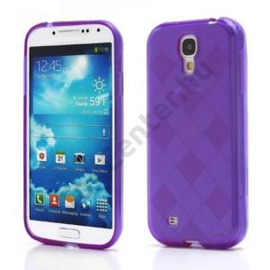 Samsung Galaxy S IV. (GT-I9500) Telefonvédő gumi / szilikon (rombuszmintás) LILA