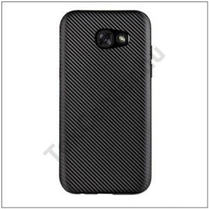 SAMSUNG Galaxy Note 8 Telefonvédő gumi / szilikon (karbon minta) FEKETE