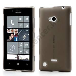Nokia Lumia 720 Telefonvédő gumi / szilikon ÁTLÁTSZÓ SZÜRKE