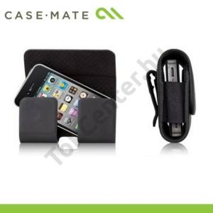CASE-MATE fekvő bőr tok (övcsipesz, mágnescsat) -  HIPSTER - fekete