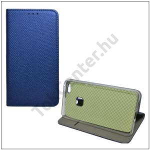 XIAOMI Redmi 4A Pro Tok álló, bőr (FLIP, oldalra nyíló, asztali tartó funkció, textil hatás) SÖTÉTKÉK