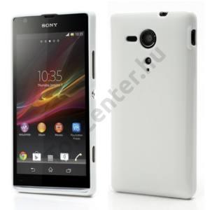 Sony Xperia SP (C5303) Telefonvédő gumi / szilikon FEHÉR